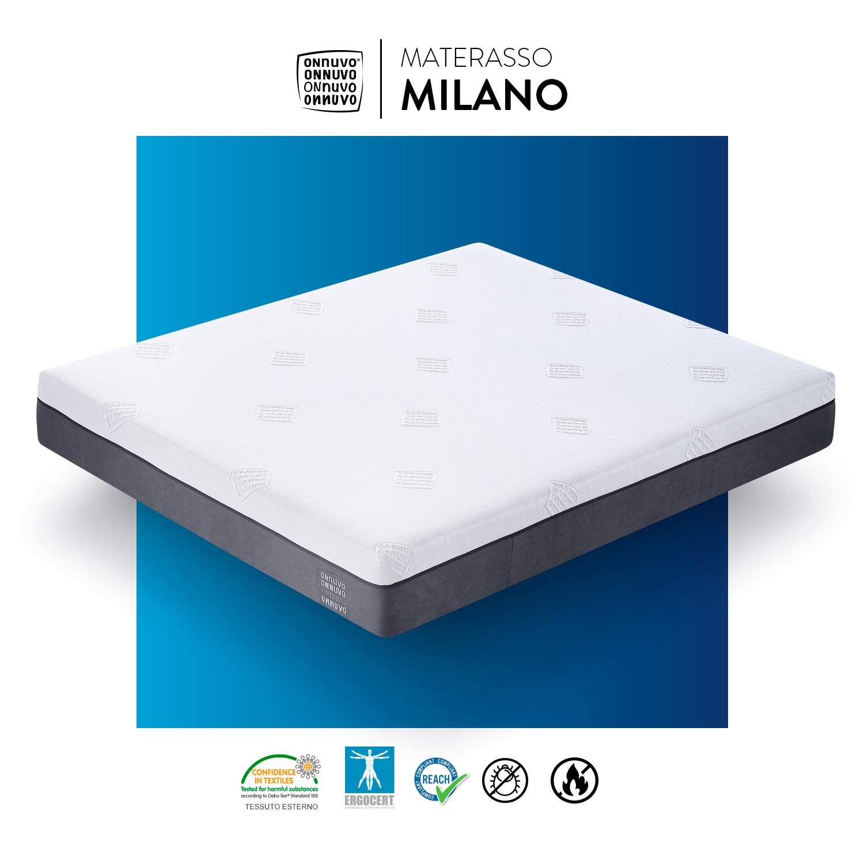 Materassi Lattice Milano.Materasso Memory Foam Gel Lattice Mini Molle 25 Cm Singolo